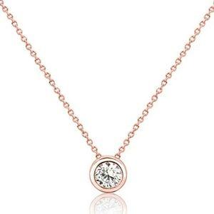 Jewelry - 8mm Bezel simulated diamond necklace
